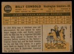 1960 Topps #508  Billy Consolo  Back Thumbnail