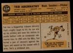 1960 Topps #334  Ted Abernathy  Back Thumbnail