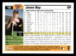 2005 Topps #12  Jason Bay  Back Thumbnail