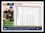 2005 Topps #61  Al Leiter  Back Thumbnail