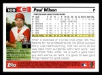 2005 Topps #108  Paul Wilson  Back Thumbnail
