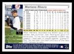2005 Topps #118  Mariano Rivera  Back Thumbnail