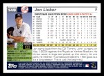 2005 Topps #149  Jon Lieber  Back Thumbnail