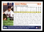 2005 Topps #190  Jason Phillips  Back Thumbnail