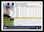 2005 Topps #200  Jason Giambi  Back Thumbnail