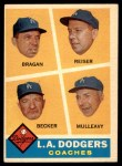 1960 Topps #463   -  Bobby Bragan / Pete Reiser / Joe Becker / Greg Mulleavy Dodgers Coaches Front Thumbnail