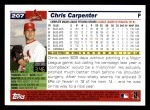 2005 Topps #207  Chris Carpenter  Back Thumbnail