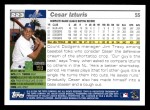 2005 Topps #223  Cesar Izturis  Back Thumbnail