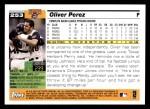 2005 Topps #253  Oliver Perez  Back Thumbnail