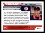 2005 Topps #271  Terry Francona  Back Thumbnail