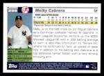 2005 Topps #298  Melky Cabrera  Back Thumbnail
