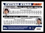 2005 Topps #330  David Wright / Craig Brazell  Back Thumbnail
