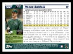 2005 Topps #397  Rocco Baldelli  Back Thumbnail
