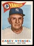 1960 Topps #227  Casey Stengel  Front Thumbnail