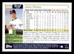 2005 Topps #455  Jake Peavy  Back Thumbnail