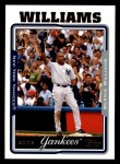2005 Topps #512  Bernie Williams  Front Thumbnail