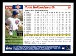 2005 Topps #570  Todd Hollandsworth  Back Thumbnail