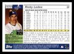 2005 Topps #595  Ricky Ledee  Back Thumbnail