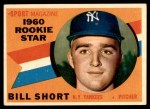 1960 Topps #142   -  Bill Short Rookie Star Front Thumbnail