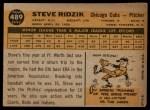 1960 Topps #489  Steve Ridzik  Back Thumbnail