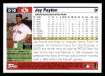 2005 Topps #616  Jay Payton  Back Thumbnail
