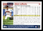 2005 Topps #624  Adam LaRoche  Back Thumbnail
