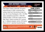 2005 Topps #648   Detroit Tigers Team Back Thumbnail
