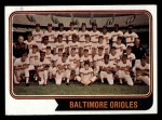 1974 Topps #16   Orioles Team Front Thumbnail