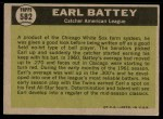 1961 Topps #582   -  Earl Battey All-Star Back Thumbnail