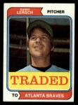1974 Topps Traded #313 T  -  Barry Lersch Traded Front Thumbnail