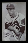 1962 Exhibits Stat Back  Eddie Mathews  Front Thumbnail