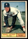1961 Topps #447 BL Harry Bright  Front Thumbnail