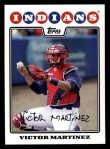 2008 Topps #54  Victor Martinez  Front Thumbnail