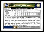 2008 Topps #55  Chris Young  Back Thumbnail