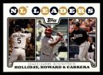 2008 Topps #58   -  Matt Holliday / Ryan Howard / Prince Fielder NL RBI Leaders Front Thumbnail