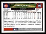 2008 Topps #95  John Lackey  Back Thumbnail