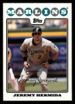 2008 Topps #119  Jeremy Hermida  Front Thumbnail