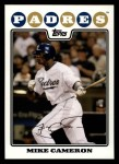 2008 Topps #121  Mike Cameron  Front Thumbnail