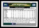 2008 Topps #138  Dan Wheeler  Back Thumbnail