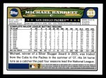 2008 Topps #213  Michael Barrett  Back Thumbnail