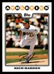 2008 Topps #235  Rich Harden  Front Thumbnail