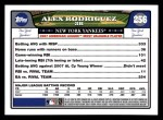 2008 Topps #256   -  Alex Rodriguez Most Valuable Player Back Thumbnail