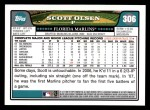 2008 Topps #306  Scott Olsen  Back Thumbnail