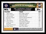 2008 Topps #327   -  Jake Peavy / Aaron Harang / John Smoltz NL Strikeout Leaders Back Thumbnail