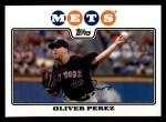 2008 Topps #334  Oliver Perez  Front Thumbnail