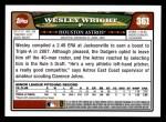 2008 Topps #361  Wesley Wright  Back Thumbnail