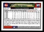 2008 Topps #377  Jake Westbrook  Back Thumbnail