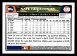 2008 Topps #403  Nate Robertson  Back Thumbnail