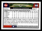 2008 Topps #416  Elijah Dukes  Back Thumbnail