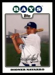 2008 Topps #418  Dioner Navarro  Front Thumbnail